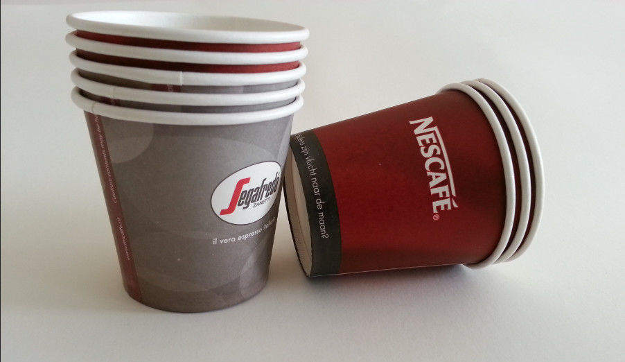 4oz 120ml Single Wall Cup , Small Disposable Paper Coffee Cups For Tasting