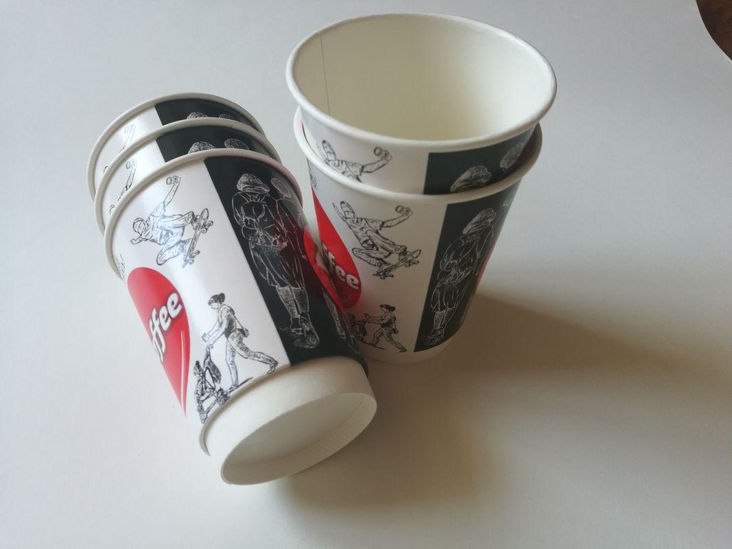 8oz,12oz,16oz customized double wall paper cup printed disposable paper cup for coffee